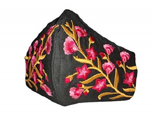 MULTICOLORED EMBROIDERED FACE MASK