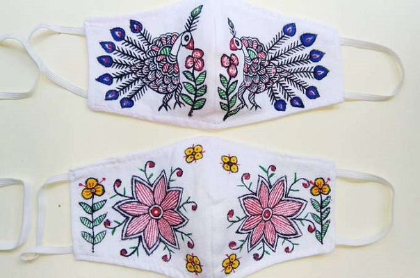 MADHUBANI PAINTING FACE MASK