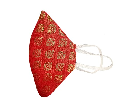 Veshbhusha Bridal Red Facemask for Women